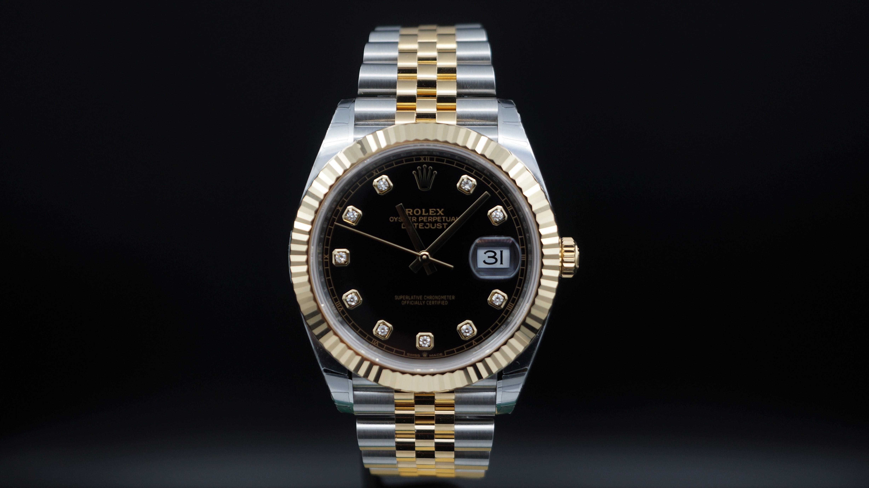 Rolex Datejust II Siyah Taşlı Kadran - 126333